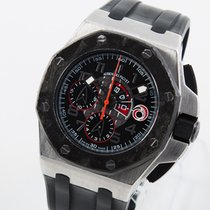 Audemars Piguet Platine Remontage automatique Noir Arabes 44mm occasion Royal Oak Offshore Chronograph