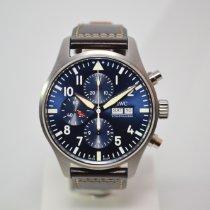 IWC Pilot Chronograph Acero 43mm Azul Árabes