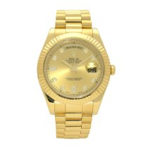 Rolex Day-Date II Yellow gold 41mm Gold No numerals United Kingdom, Liverpool