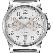 Breitling Transocean Chronograph 1915 Steel 22mm Silver Arabic numerals United States of America, New Jersey, Princeton