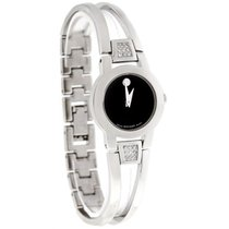 Movado Amorosa Diamond Ladies Black Dial Swiss Quartz Watch...