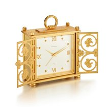 Carl F. Bucherer | A Gilt Brass Alarm Desk Clock With Semi...