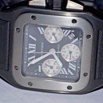 Cartier Titanium Automatic Black Roman numerals 46mm pre-owned Santos 100