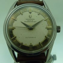Universal Genève pre-owned Automatic 34mm Silver Plexiglass