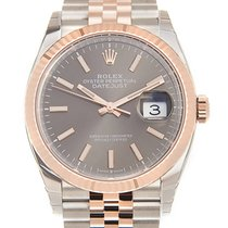 勞力士 Datejust 18k Rose Gold And Steel Gray Automatic 126231GY_J