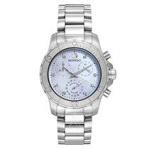 Movado Series 800 Mother of Pearl Stainless Steel Ladies Watch...