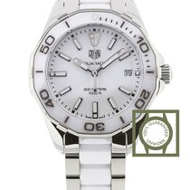 TAG Heuer Aquaracer Lady Staal 35mm Wit