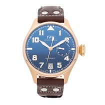 IWC Rose gold Automatic Blue Arabic numerals 46mm pre-owned Big Pilot