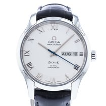 Omega De Ville Co-Axial pre-owned 41mm Silver Date Leather