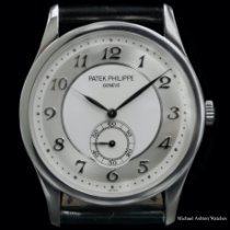 Patek Philippe Calatrava Platinum 37mm Silver Arabic numerals United States of America, New York, New York