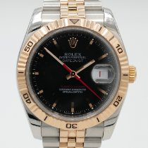 Rolex Datejust Turn-O-Graph Gold/Steel 36mm Black No numerals