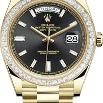 Rolex 228398TBR Black Baguette Yellow gold 2021 Day-Date 40 40mm new United States of America, New York, Airmont