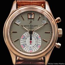 Patek Philippe Annual Calendar Chronograph Rose gold Grey No numerals