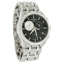 Tissot Couturier Mens Blk Swiss Chrono Quartz Watch T035.439.1...