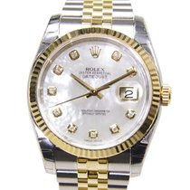 勞力士 (Rolex) Datejust Gold And Steel White Automatic 116233NGWT