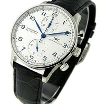 IWC 371417 Portuguese - Automatic Chronograph - Steel on Strap...