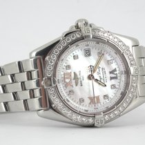 Breitling Wings Lady MOP diamond dial and diamond bezel