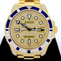 Rolex GMT-Master II 18K Yellow Gold with Diamond and Sapphire