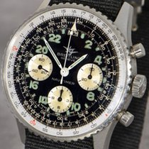 Breitling Navitimer Cosmonaute pre-owned 41mm Black Chronograph Textile