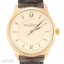 Moritz Grossmann Ouro rosa 39mm Corda manual MG-00432 novo