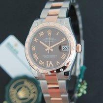 Rolex Datejust Evererosegold / Steel Choco VI Diamonds 178341 NEW
