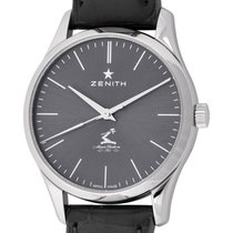 Zenith Elite Ultra Thin pre-owned 33mm Grey Crocodile skin