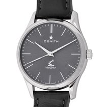 Zenith Steel Automatic Grey 33mm pre-owned Elite Ultra Thin