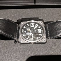 Bell & Ross BR 03-51 GMT pre-owned 42mm Black Date GMT Calf skin