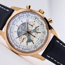 Breitling Transocean Chronograph Unitime Rose gold 46mm White No numerals United States of America, New Jersey, Princeton