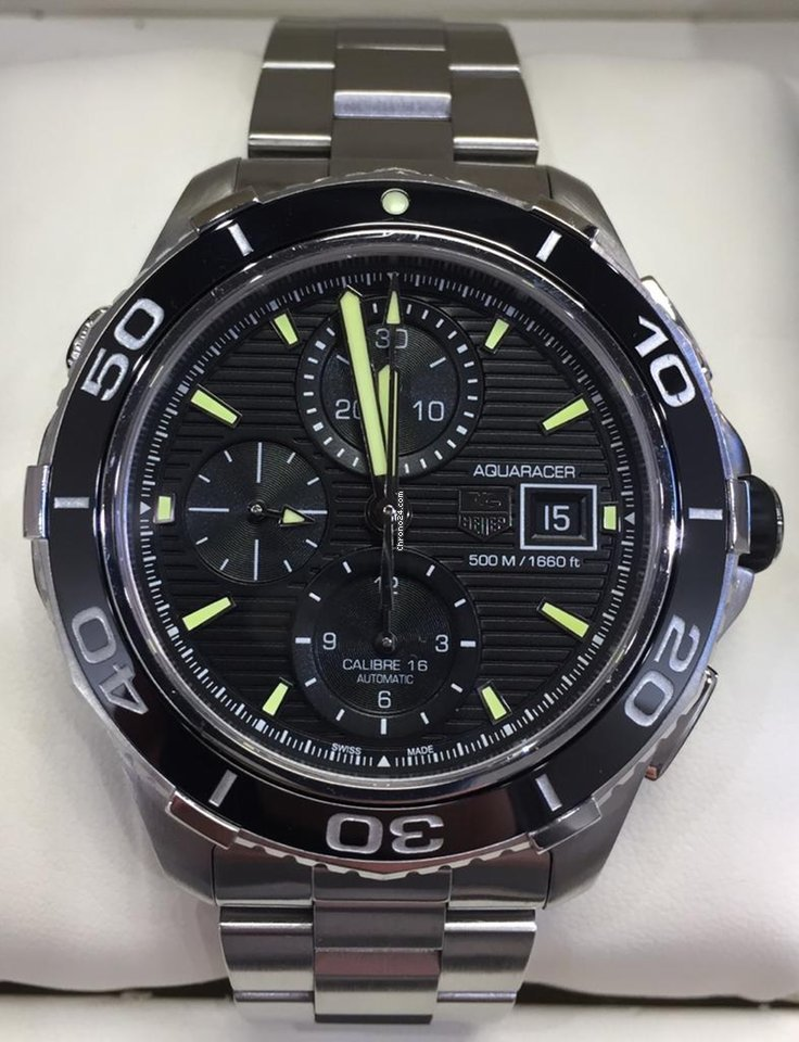 f8f119cbbc9 TAG Heuer Aquaracer Chronograph Auto 500M Calibre 16 CAK2111 for ...