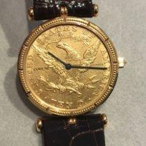 昆仑 黃金 28mm 石英 5014356 新的
