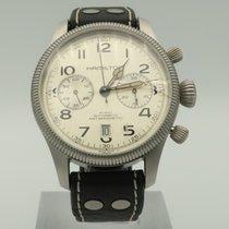 Hamilton Chronograph 52mm Automatic pre-owned Khaki Field Pioneer Silver