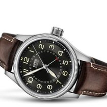 Oris Big Crown Pointer Date pre-owned 40mm Black Month Leather