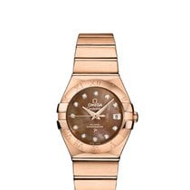 Omega Rose gold Mother of pearl new Constellation Ladies
