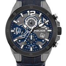 Police Steel 47mm Quartz PL15711JSUB.03 new