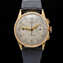 Universal Genève Compax Yellow gold 34mm Silver United Kingdom, Macclesfield