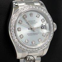 Rolex Platin Automatik Blau 26mm gebraucht Lady-Datejust