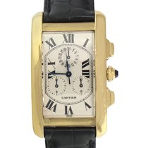 Cartier Tank Américaine pre-owned 26mm Silver Chronograph Date Buckle