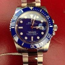 Rolex Weißgold Automatik Blau Keine Ziffern 40mm neu Submariner Date