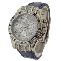 Rolex Used 116519_custom_Diamonds Daytona White Gold with...
