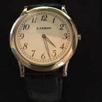 L.Leroy White gold 2mm Manual winding pre-owned