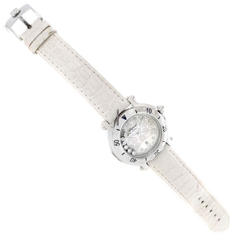 b847006bdc54c Chopard Happy Sport Snowflake Floating Diamond Watch 278949-3001 for $3,590  for sale from a Trusted Seller on Chrono24