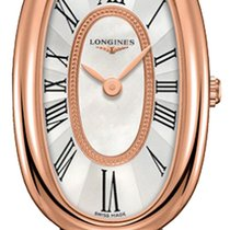 Longines Rose gold Quartz Mother of pearl 18.9mm new Symphonette