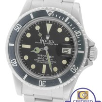 Rolex Submariner Date 1680 Matte Black Stainless 40mm Dive Watch