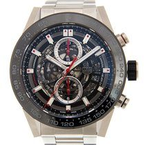 豪雅 (TAG Heuer) Carrera Ceramics - Steel Black Automatic...