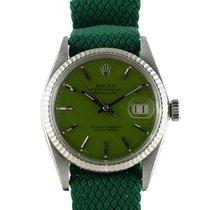 """劳力士  DATEJUST 1601 SS with Glossy """"Stella"""" Green Dial"""