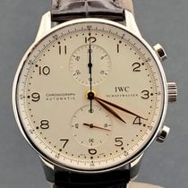 IWC Portuguese Chronograph Golden numbers with papers no box 41.