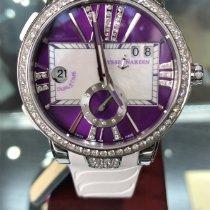 Ulysse Nardin Executive Dual Time Lady Сталь 40mm Фиолетовый Римские