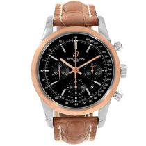 Breitling Transocean Chronograph pre-owned 43mm Brown Chronograph Tachymeter Leather