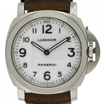 Panerai Luminor Base tweedehands 44mm Wit Jaaraanduiding Leer